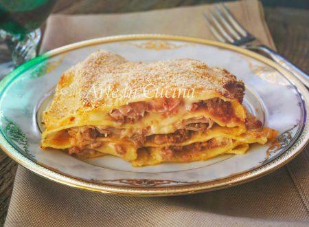 Lasagna facile e veloce prosciutto e carne