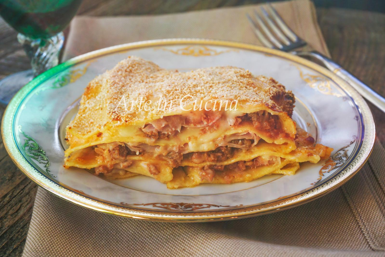 Lasagna facile e veloce prosciutto e carne vickyart arte in cucina
