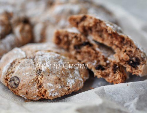 Pasticcini mandorle e cioccolato morbidi con gocce