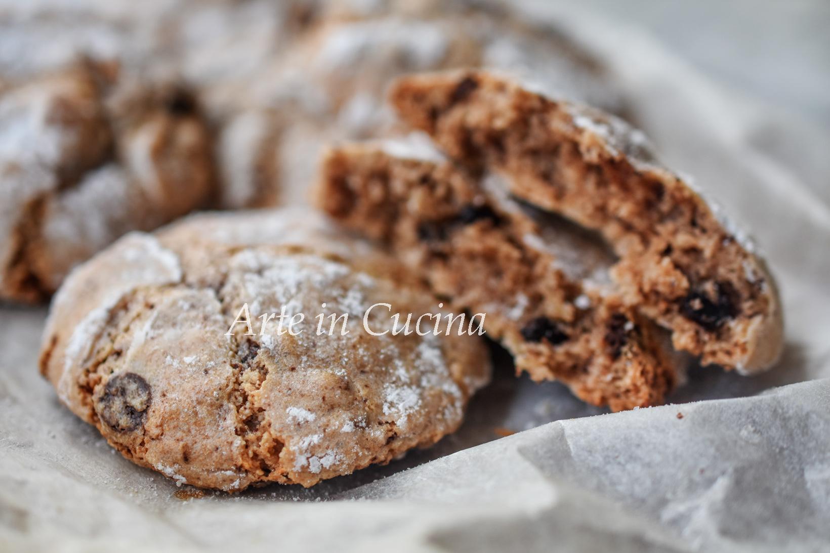 Pasticcini mandorle e cioccolato morbidi con gocce vickyart arte in cucina