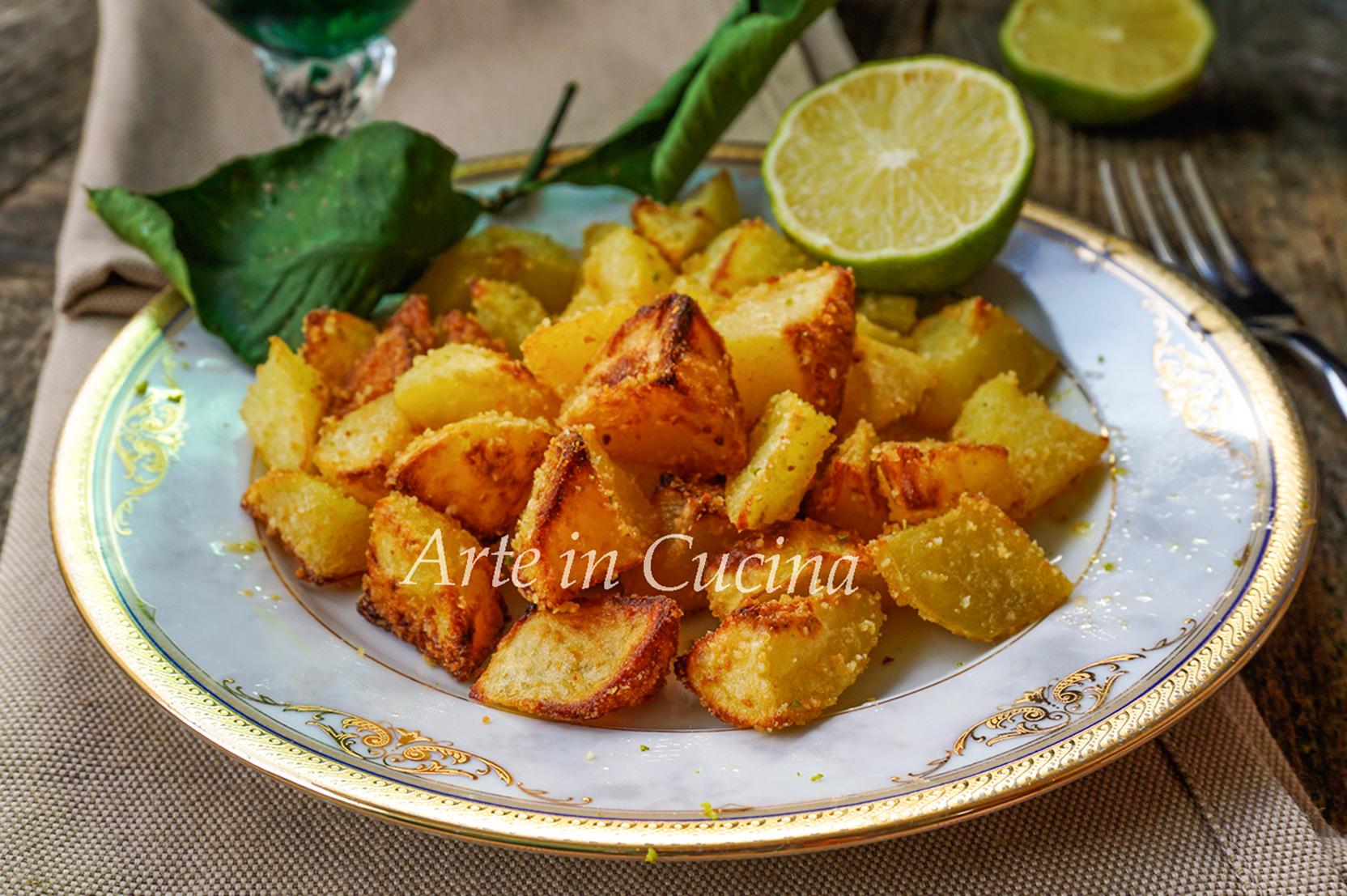 Patate croccanti al lime ricetta facile vickyart arte in cucina