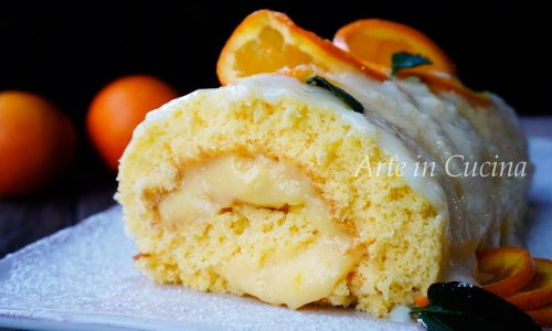 Rotolo arancia e cioccolato bianco veloce