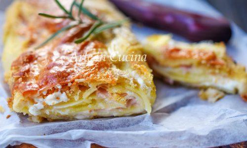 Rotolo di patate cremoso con robiola veloce