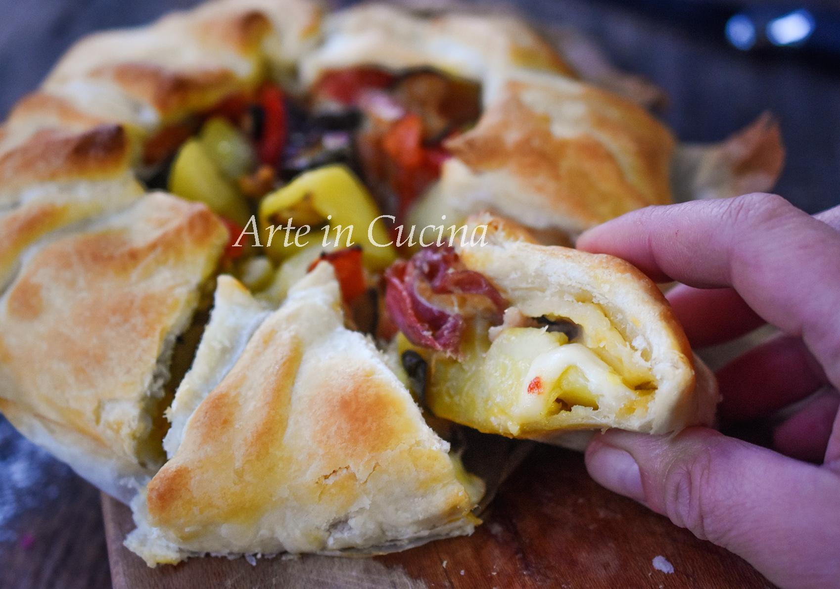 Torta contadina patate speck e verdure vickyart arte in cucina