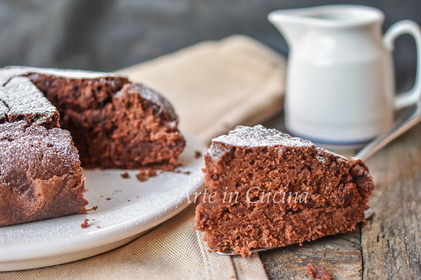 Torta senza burro e uova al cioccolato veloce vickyart arte in cucina