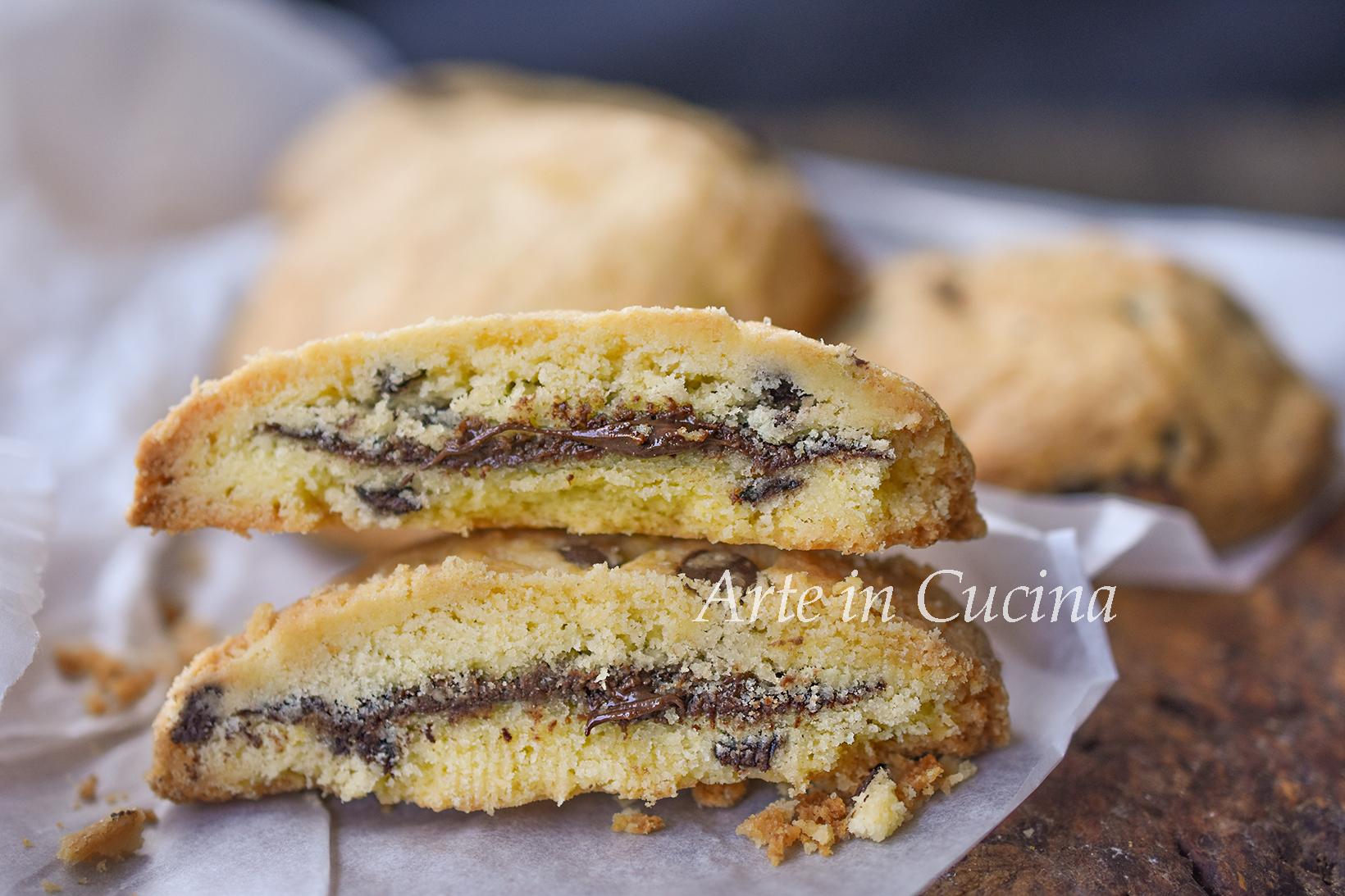 Cookies ripieni di nutella ricetta veloce vickyart arte in cucina
