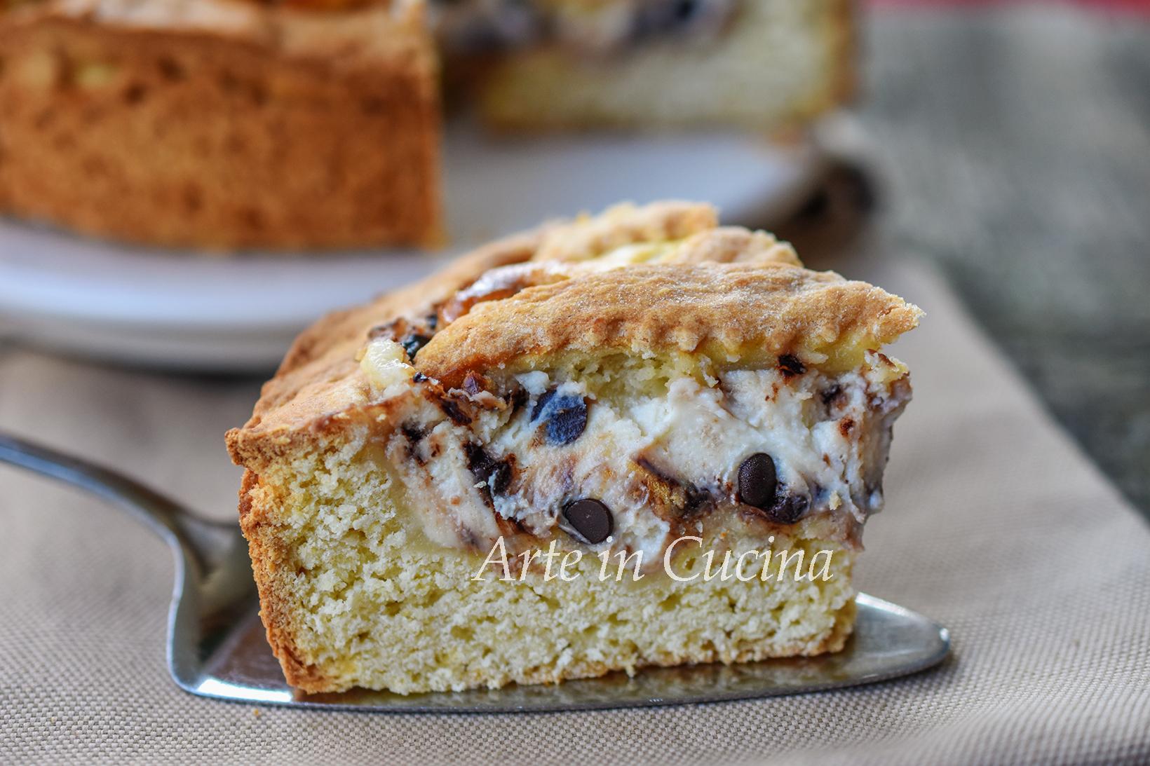 Crostata siciliana ricotta e gocce di cioccolato vickyart arte in cucina
