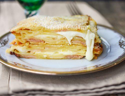 Lasagne patate cotto e mozzarella veloci