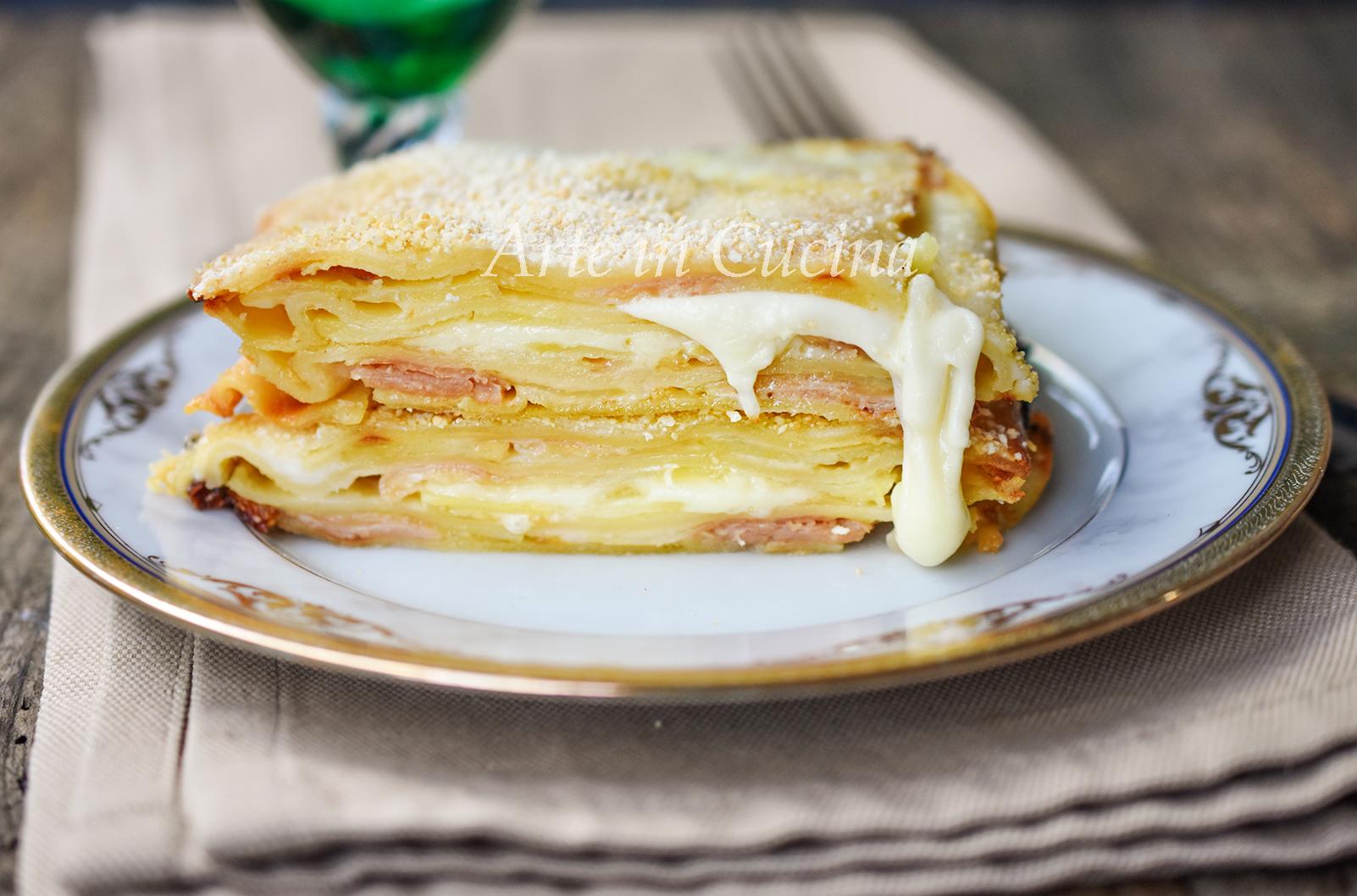 Lasagne patate cotto e mozzarella veloci vickyart arte in cucina