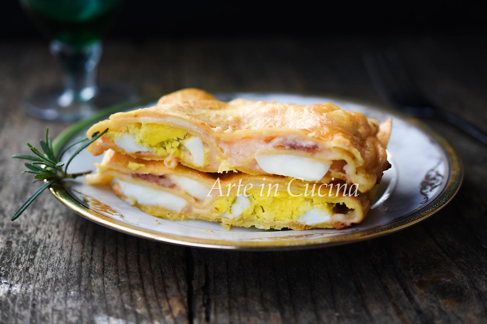 Lasagne con salame e uova sode veloci vickyart arte in cucina