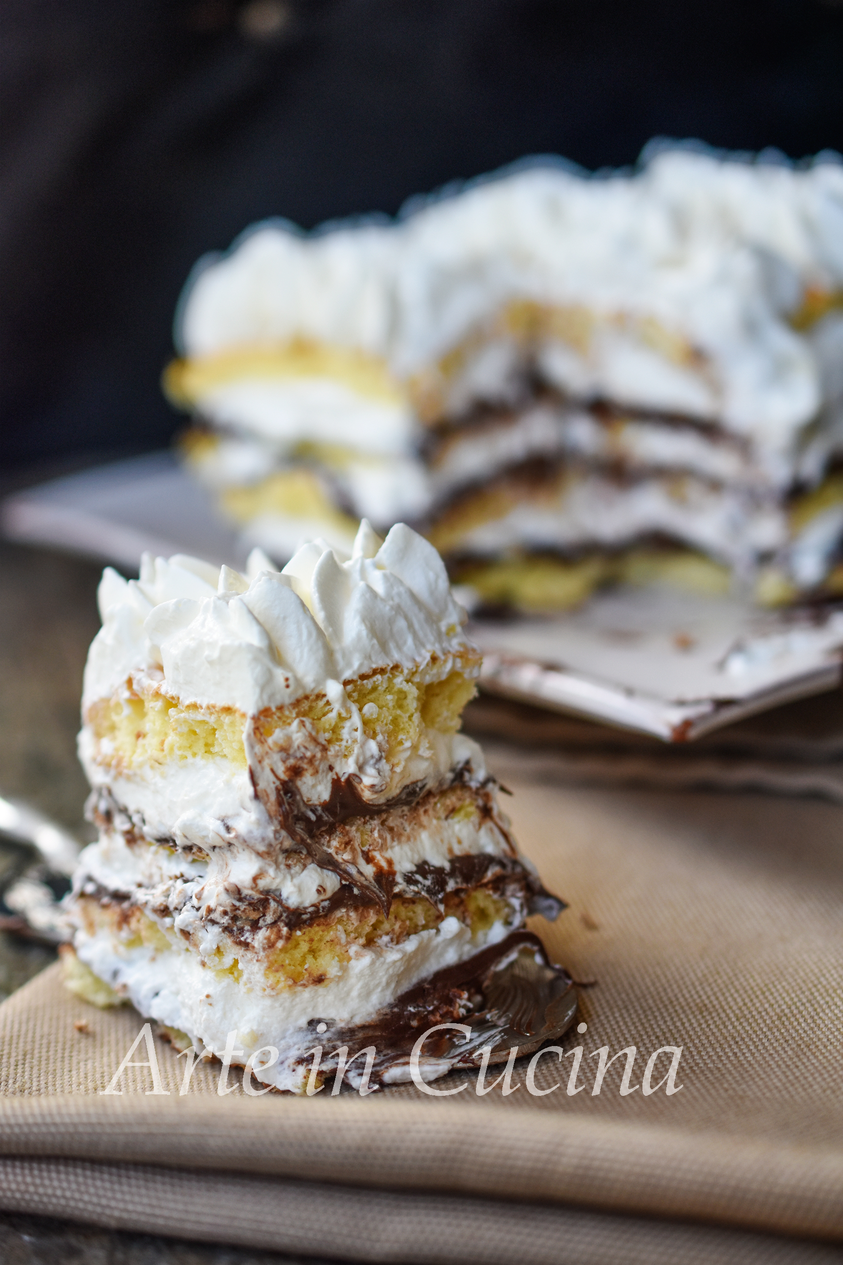 Mattonella dolce Nutella e ricotta morbida vickyart arte in cucina