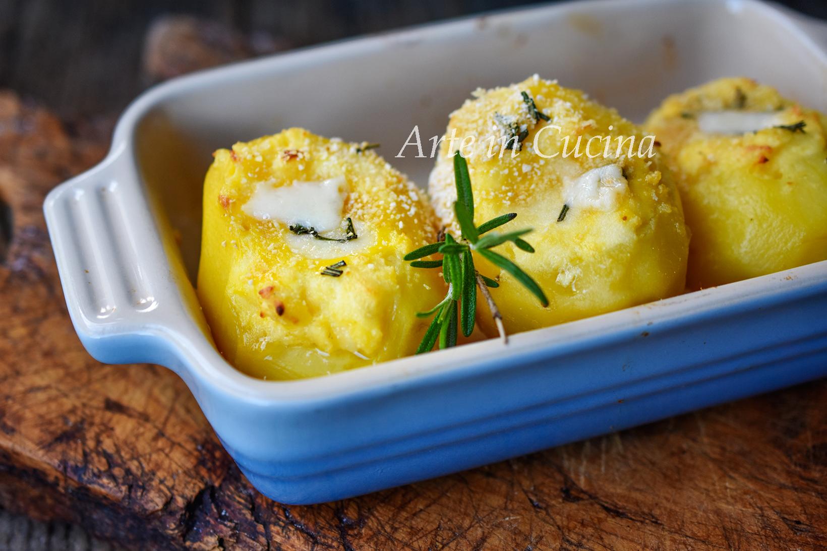 Patate al formaggio cremose gratinate vickyart arte in cucina