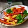 Peperoni e patate in padella veloci vickyart arte in cucina