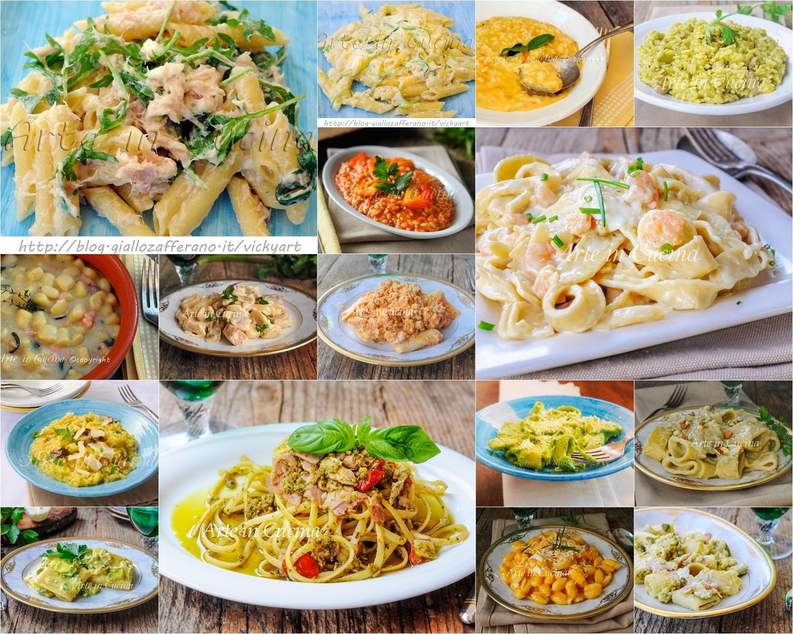 Primi piatti cremosi facili e veloci ricette per pranzo o cena for Ricette primi piatti