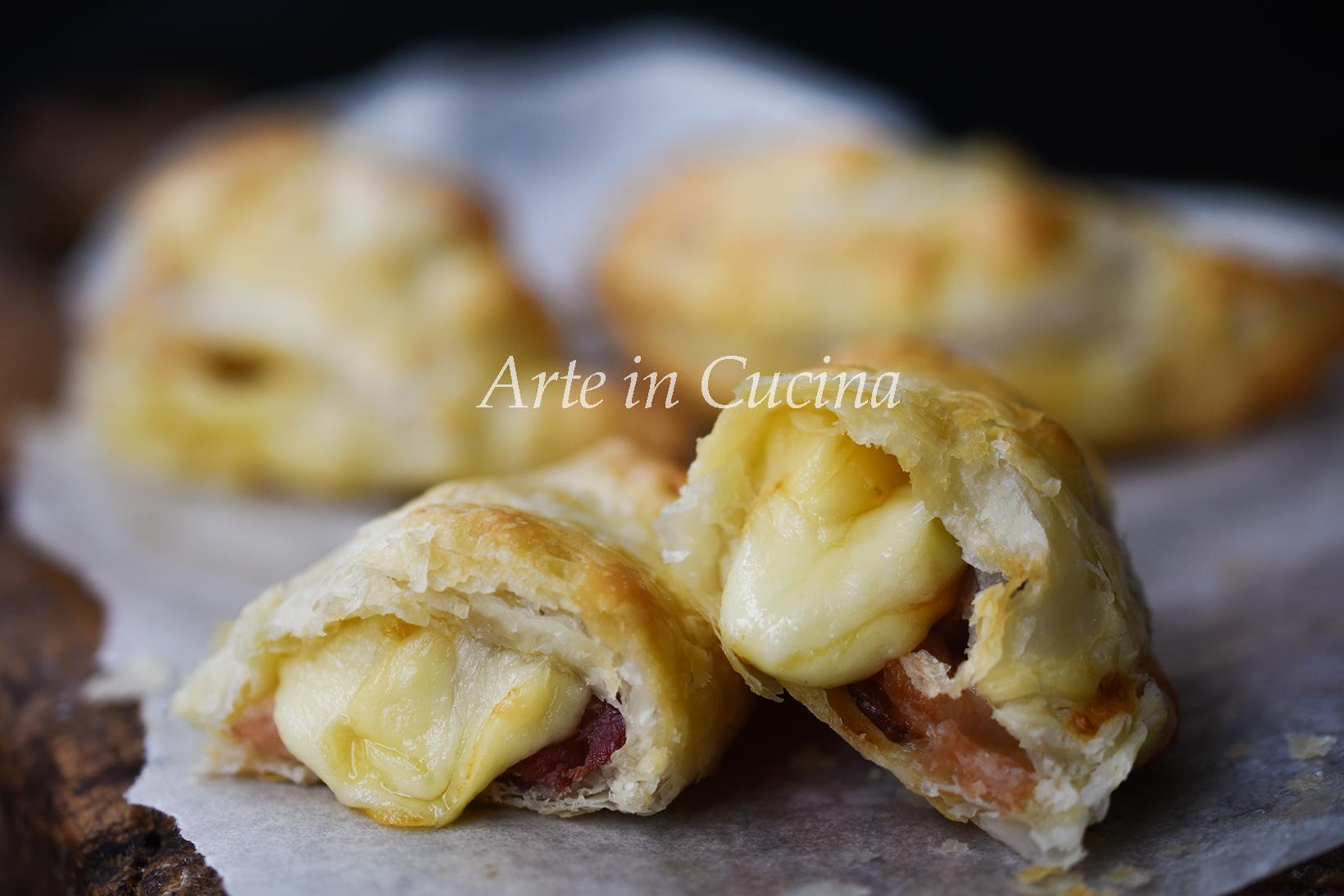 Rustici di sfoglia salumi e formaggio veloci vickyart arte in cucina