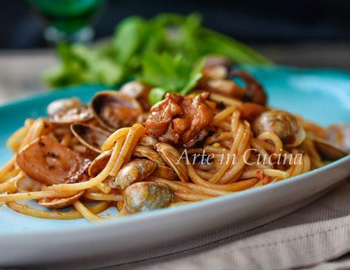 Spaghetti lupini e seppie ricetta di pesce
