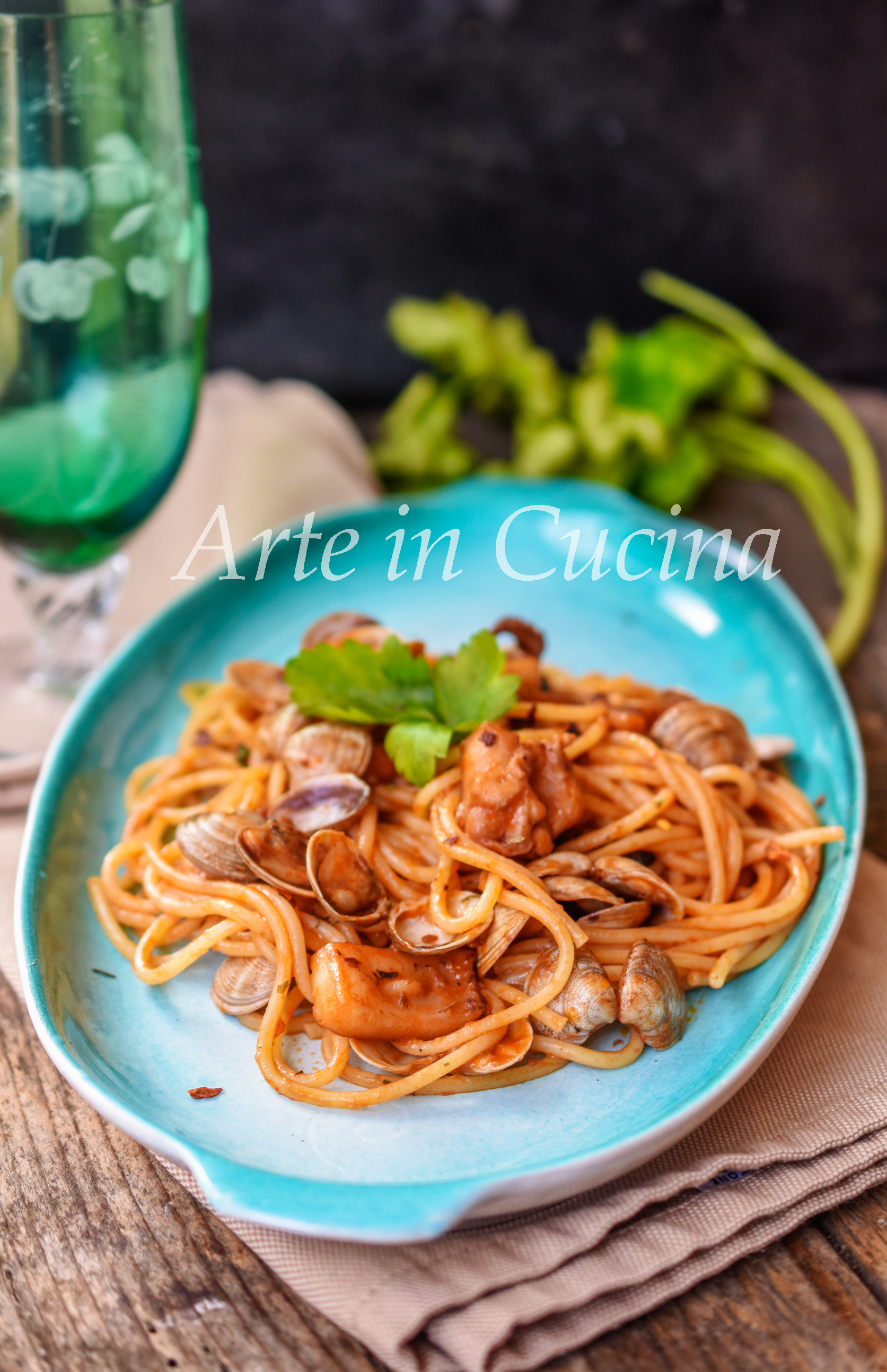 Spaghetti lupini e seppie ricetta di pesce vickyart arte in cucina