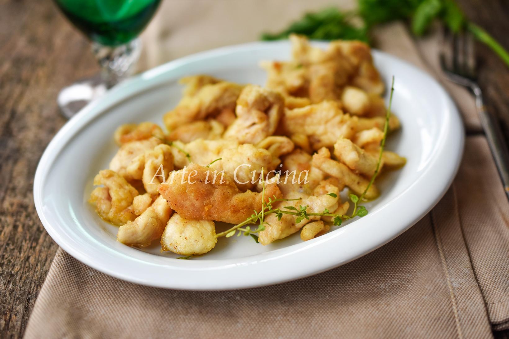 Straccetti di pollo fritti paprica e timo vickyart arte in cucina