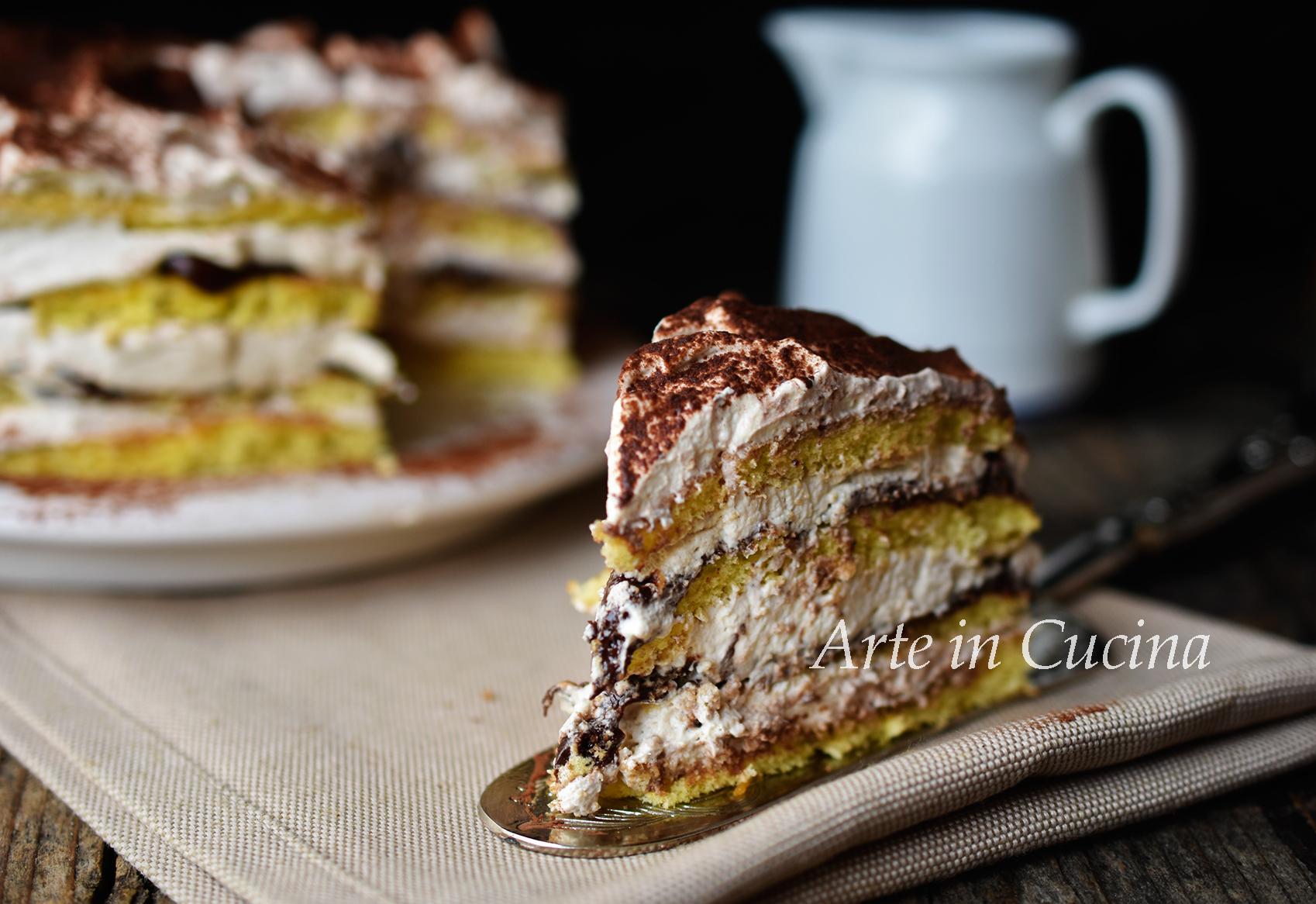 Torta a strati tiramisu e nutella veloce vickyart arte in cucina