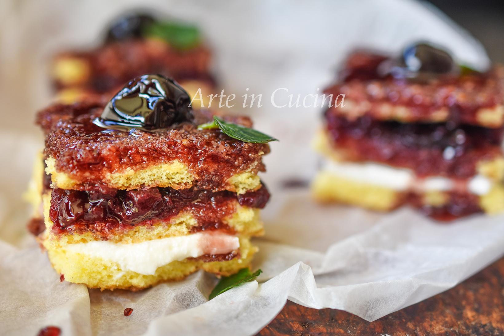 Tortine ricotta e amarene ricetta veloce vickyart arte in cucina