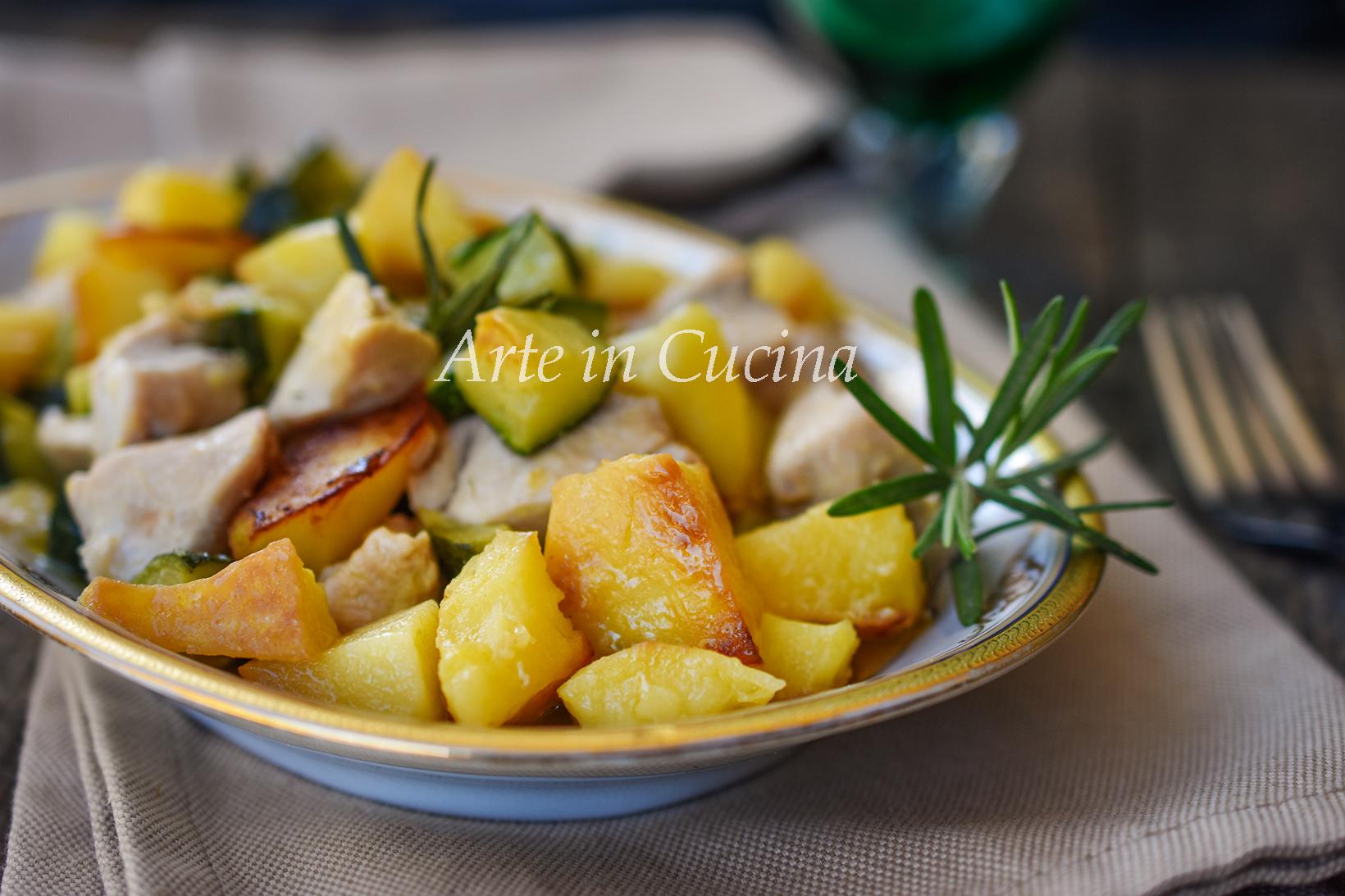 Bocconcini di pollo patate e zucchine vickyart arte in cucina