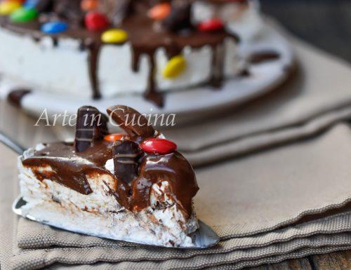 Cheesecake con biscotti al cioccolato