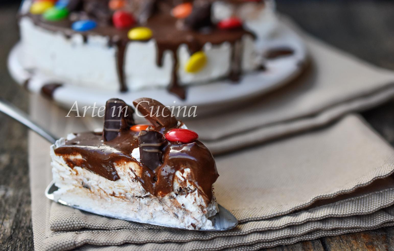 Cheesecake con biscotti al cioccolato vickyart arte in cucina