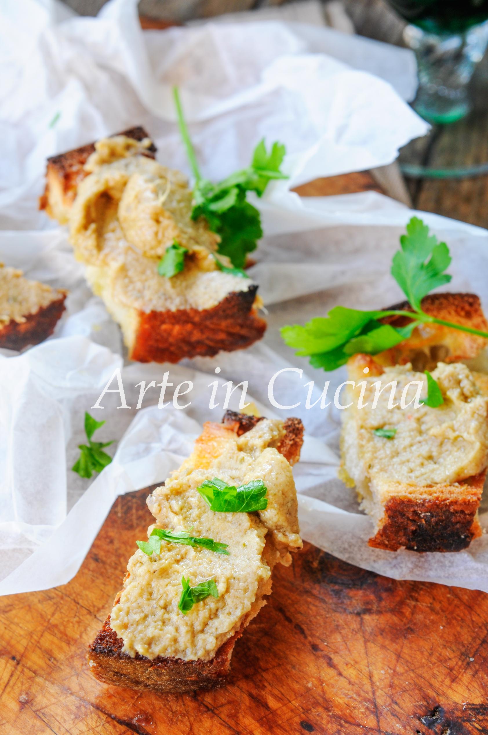 Crostini con crema di carciofi antipasto vickyart arte in cucina