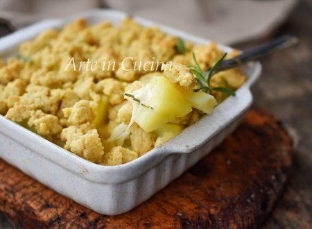 Crumble di patate e provola facile
