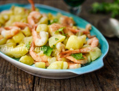 Gamberi e patate con 3 ingredienti veloci