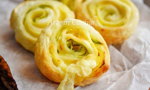 Girelle patate zucchine e robiola 10 minuti