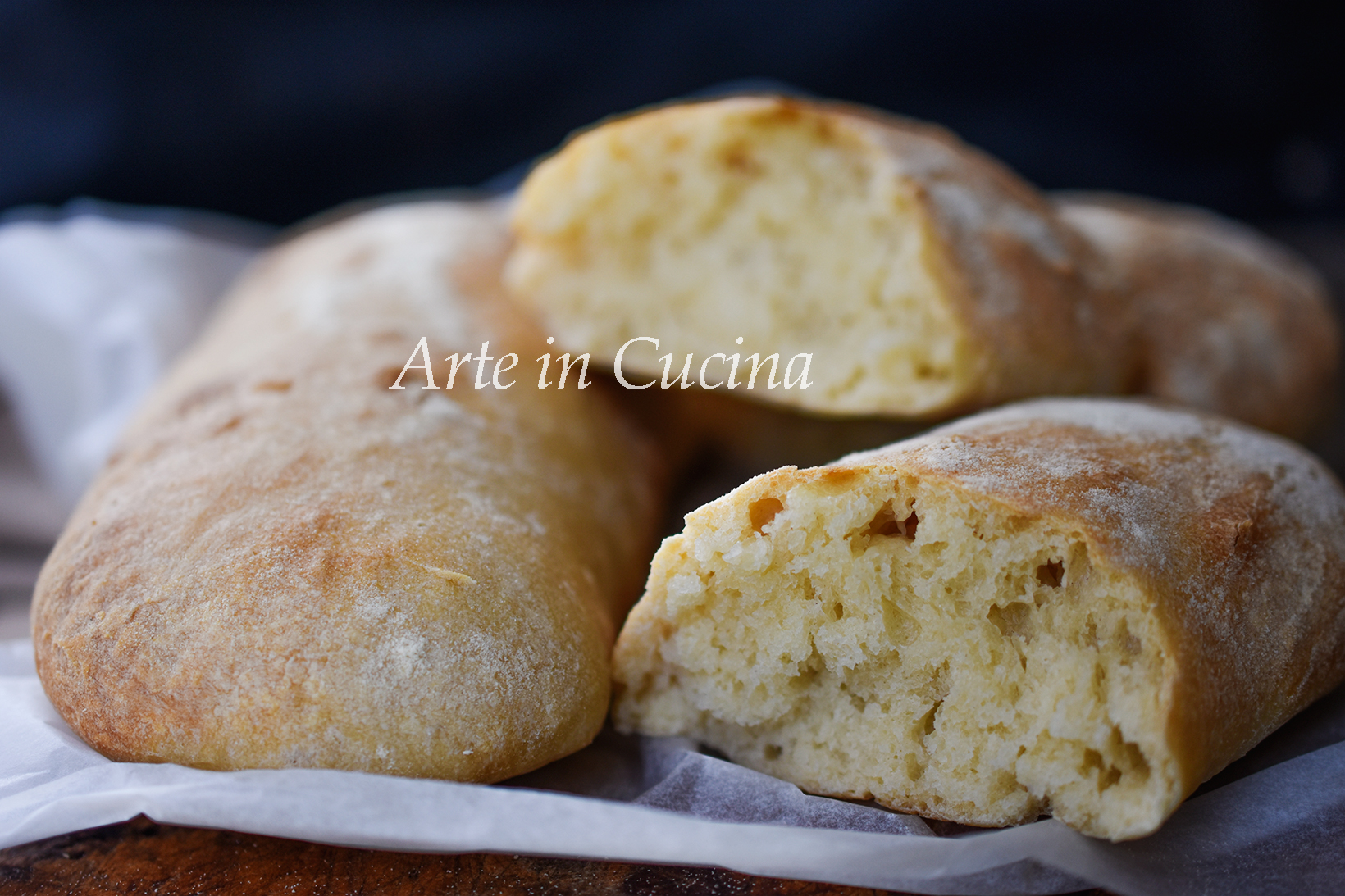 Pane ciabatta ricetta con 2 grammi di lievito vickyart arte in cucina