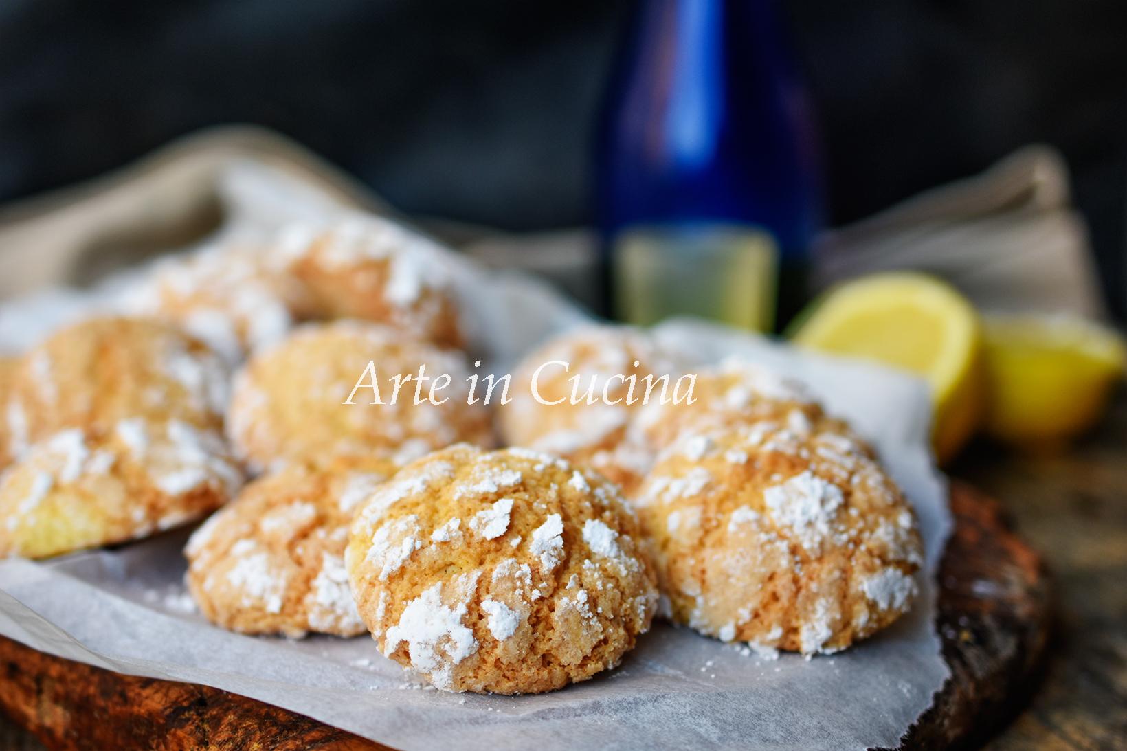 Pasticcini al limoncello dolcetti veloci biscotti morbidi vickyart arte in cucina