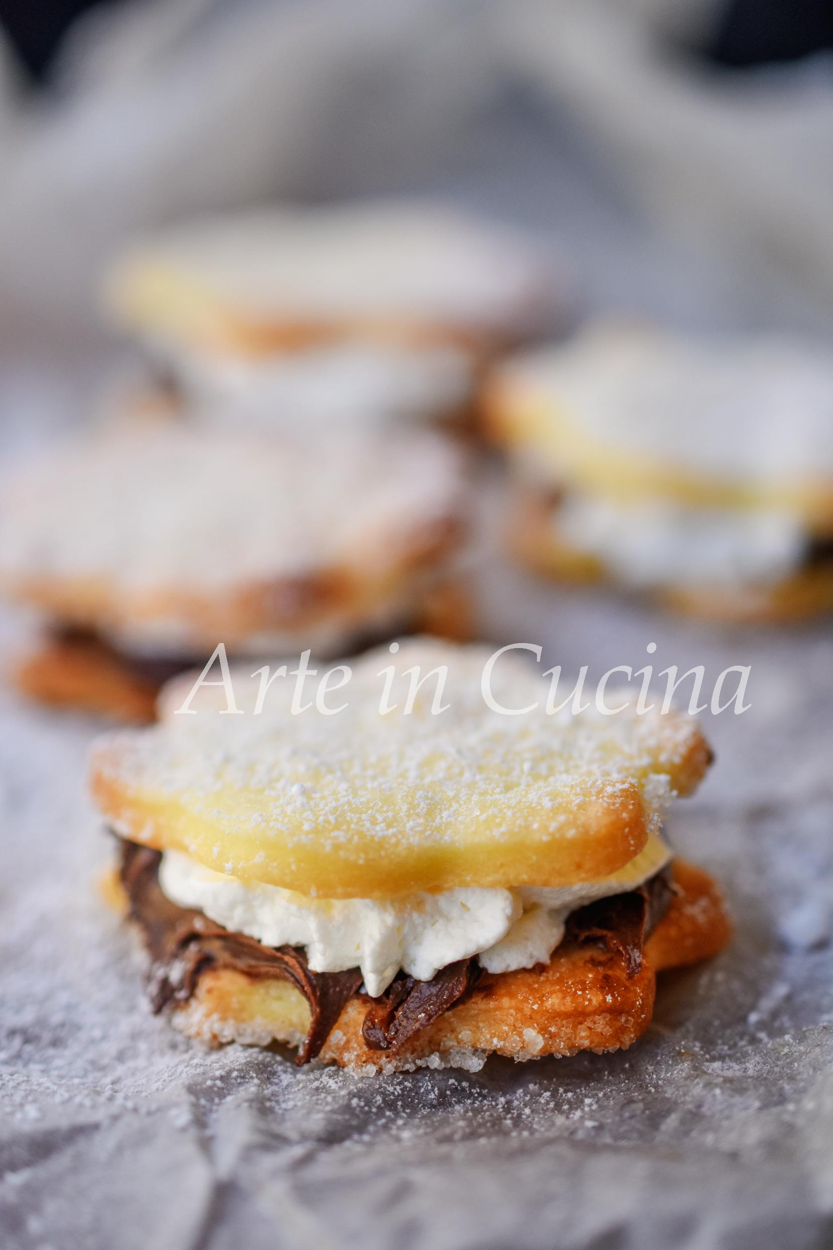 Pasticcini alla panna e nutella veloci vickyart arte in cucina