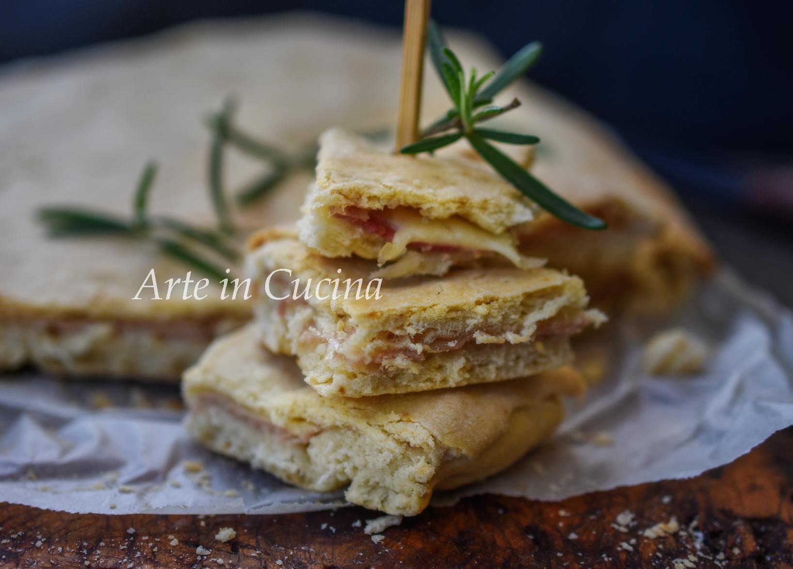 Pizza ripiena al prosciutto rustica veloce vickyart arte in cucina
