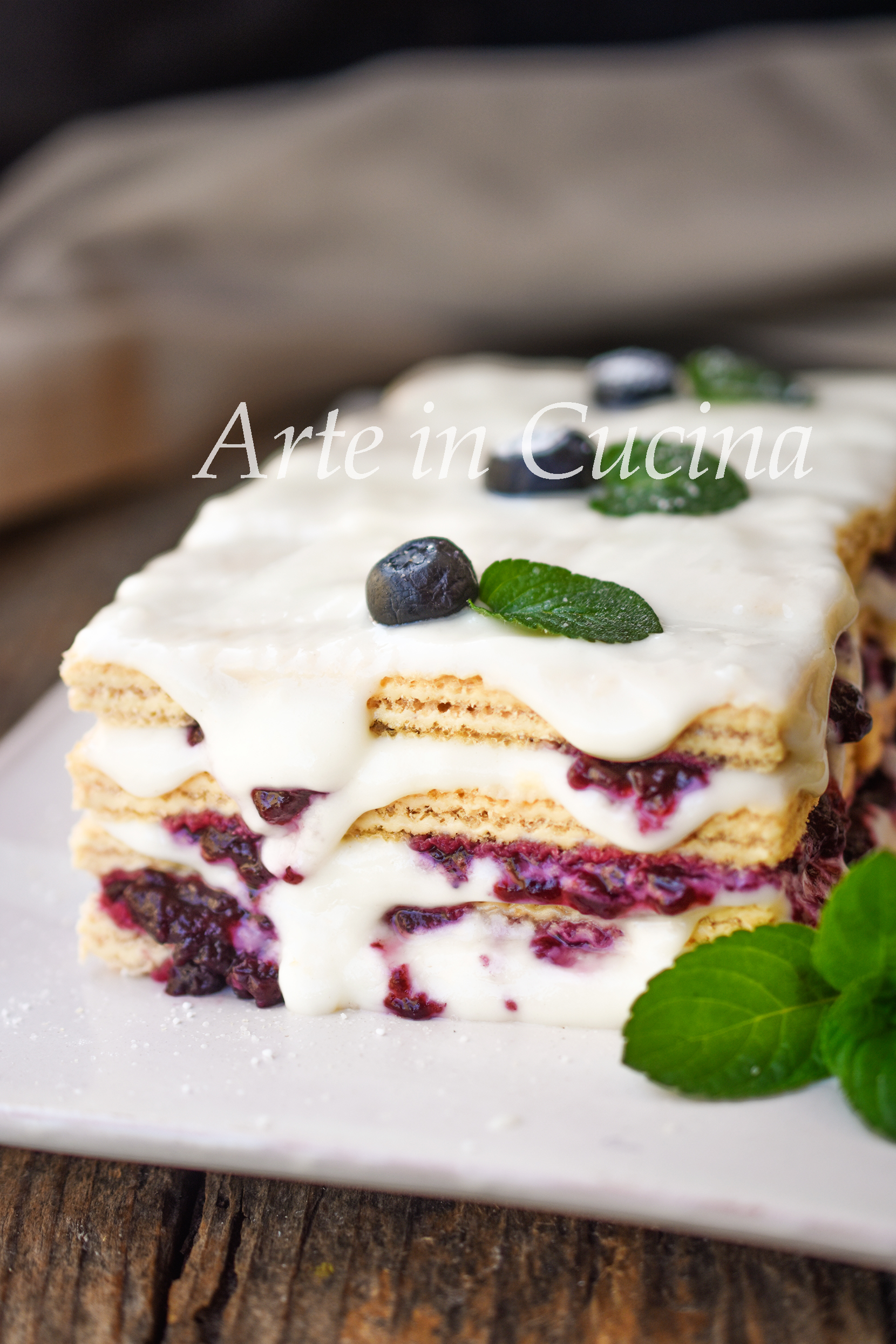 Tiramisu di wafer marmellata e crema al latte dolce veloce goloso vickyart arte in cucina