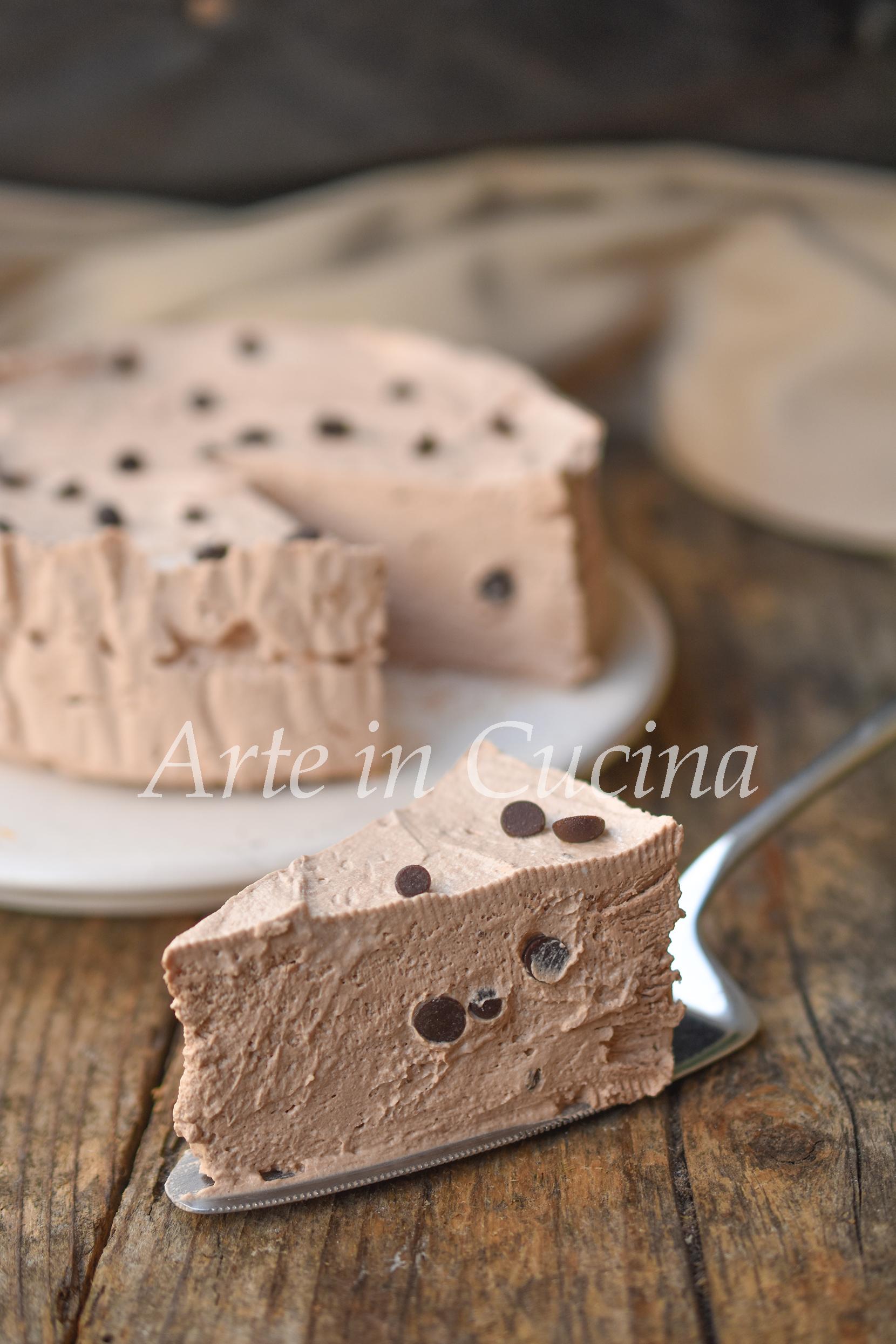 Torta fredda cremosa al cioccolato senza biscotti vickyart arte in cucina