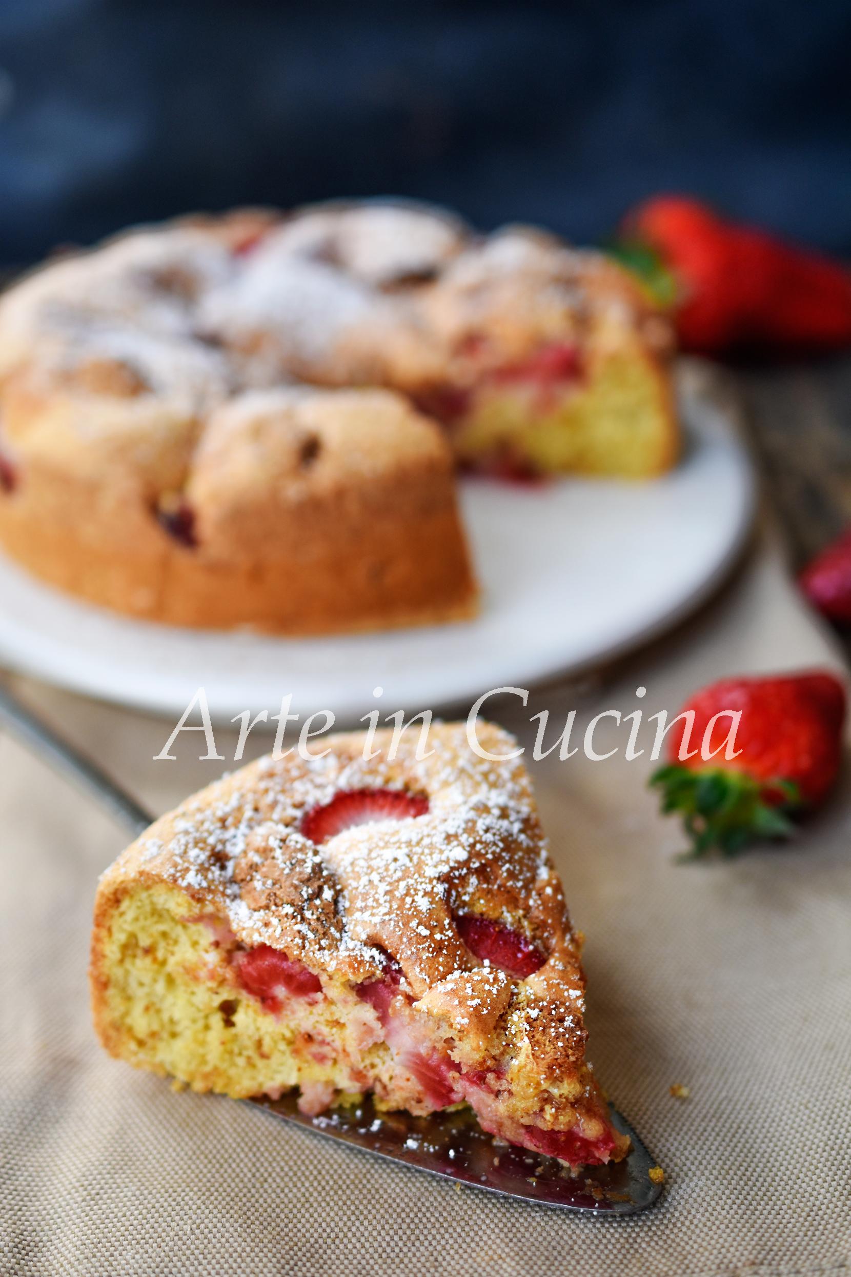 Torta morbida fragole e amaretti veloce vickyart arte in cucina
