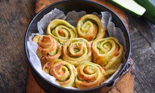Torta di rose zucchine e salmone 10 minuti