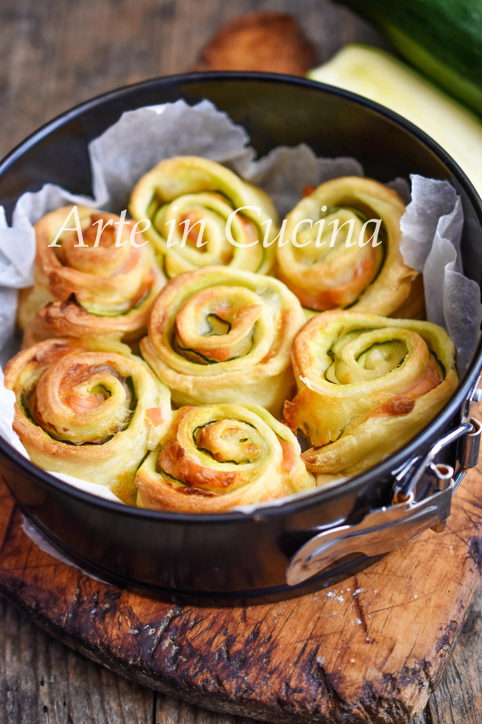 Torta di rose zucchine e salmone 10 minuti vickyart arte in cucina