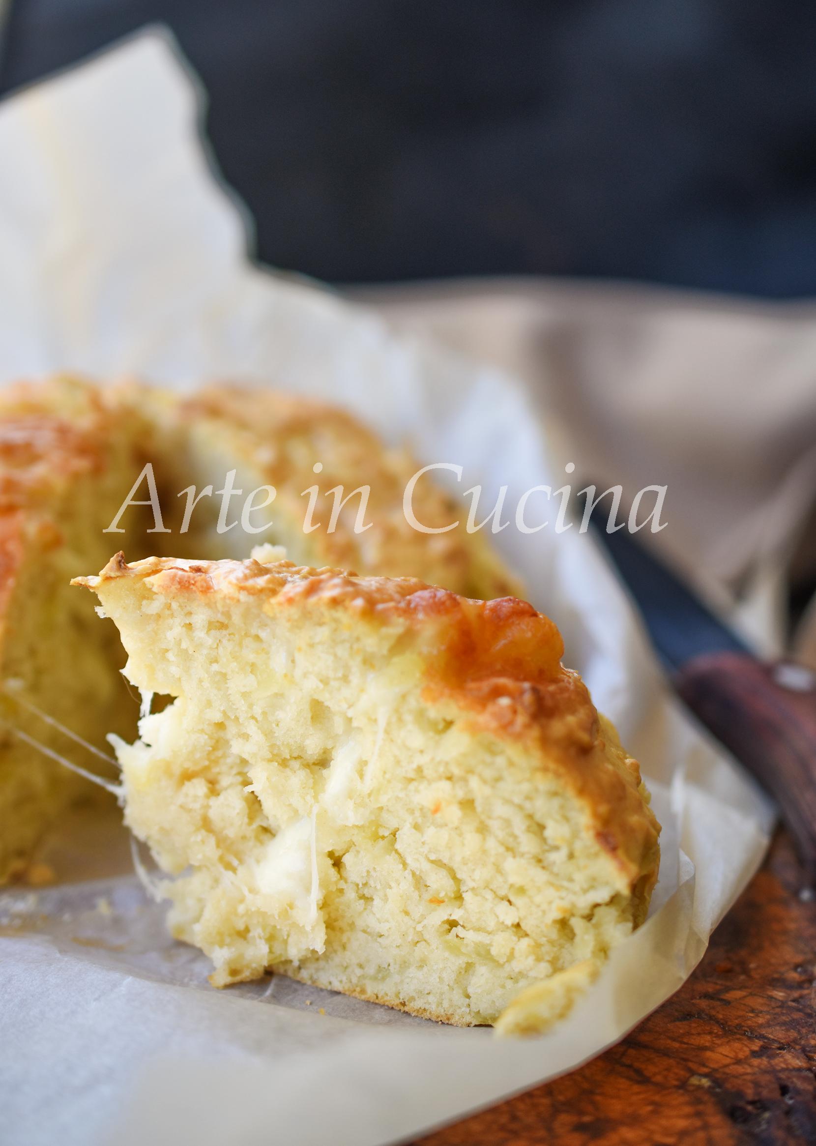 Torta salata con albumi farcita con patate ricetta veloce vickyart arte in cucina