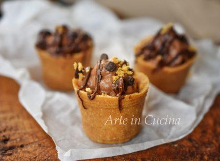 Tortine con ricotta e cioccolato veloci senza forno