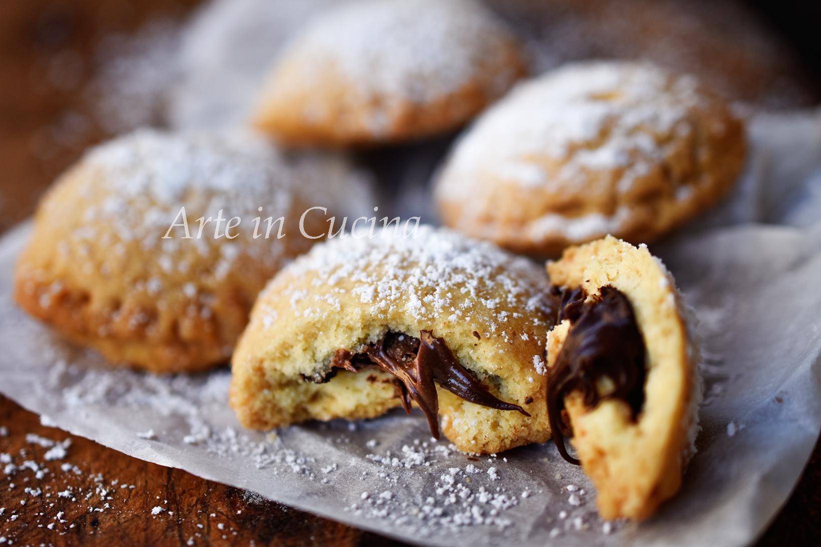 Ricetta Veloce Colazione.Biscotti Veloci Con Nutella Dolci Da Colazione