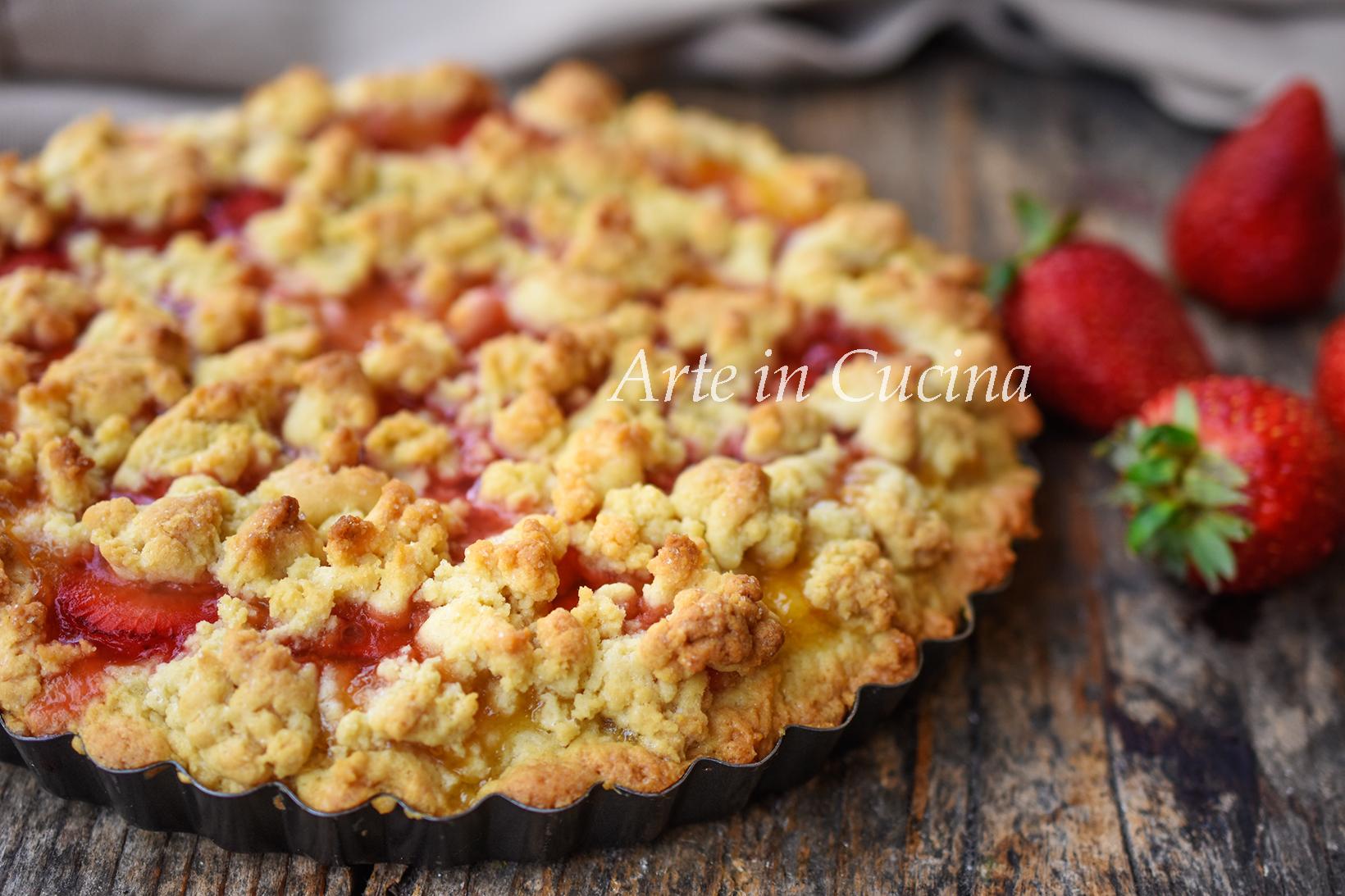 Crostata montata alle fragole e marmellata dolce veloce alla frutta vickyart arte in cucina