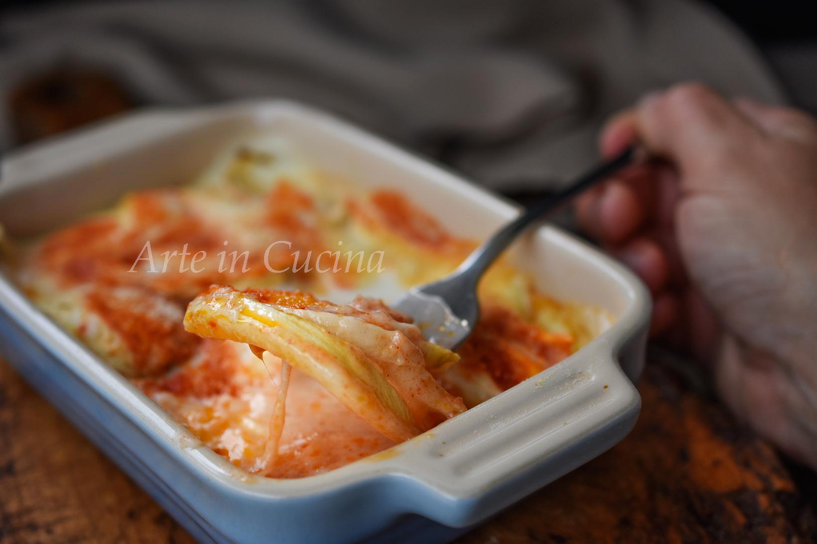 Parmigiana di finocchi con prosciutto vickyart arte in cucina