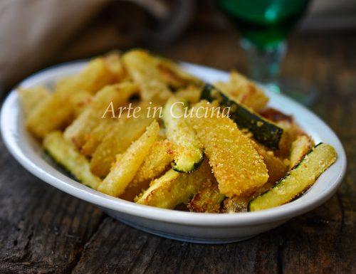 Patate e zucchine gratinate sabbiose
