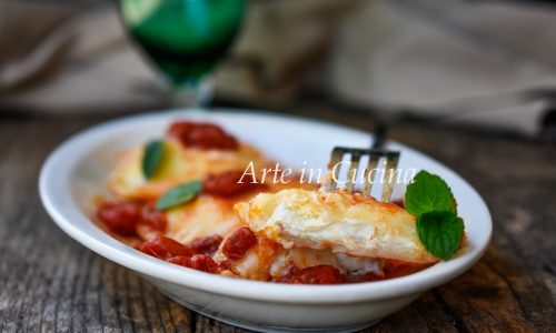 Ravioli di pasta cotta con ricotta ricetta napoletana