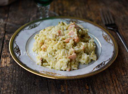 Risotto zucchine e salmone con philadelphia