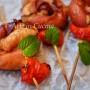 Spiedini di girelle di salsiccia e speck cena veloce vickyart arte in cucina