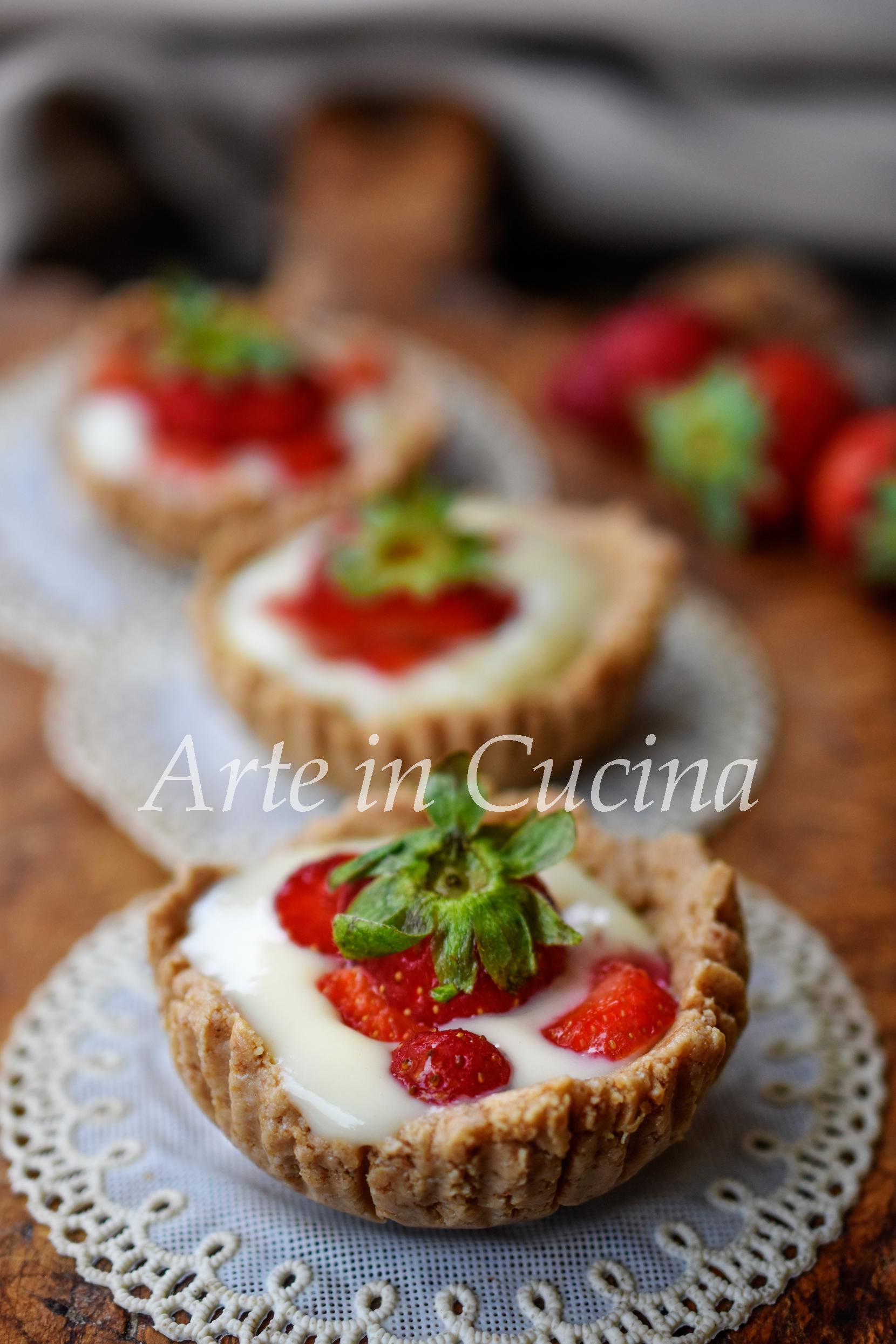 Tartellette alla crema senza forno dolcetti di piccola pasticceria vickyart arte in cucina